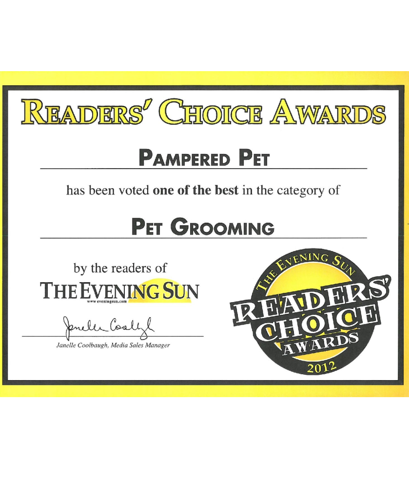 Evening Sun Reader's Choice Award